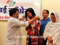 Model Hasin Jahan, wife of cricketer Mohammed Shami joined Congress