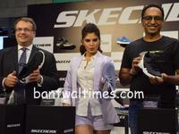 Bollywood actress Jacqueline Fernandez & Edgard Kagan at the launched of Skechers largest Store in India