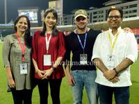 Bollywood celebrities joined the spirit of cricket at T10 league in Sharjah Cricket Stadium.